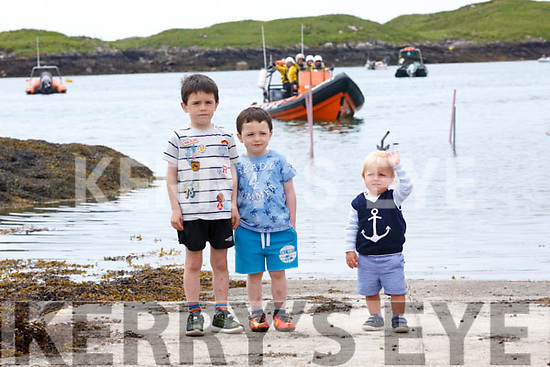 Pictured at the Derrynane Inshore Rescue Day on Sunday were l-r: Colm O'Sullivan, Eoghan O'Sullivan & Alexander Walker.