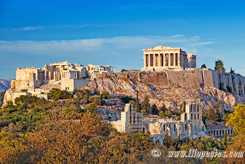 The Parthenon (447 B.C.) on the Athenian Acropolis, Greece