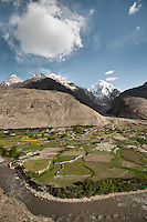 Baba Tangi village below Baba Tangi peak. Driving up from Ishkashim town to Sarhad village, the end of the road in the Wakhan corridor, Afghanistan.