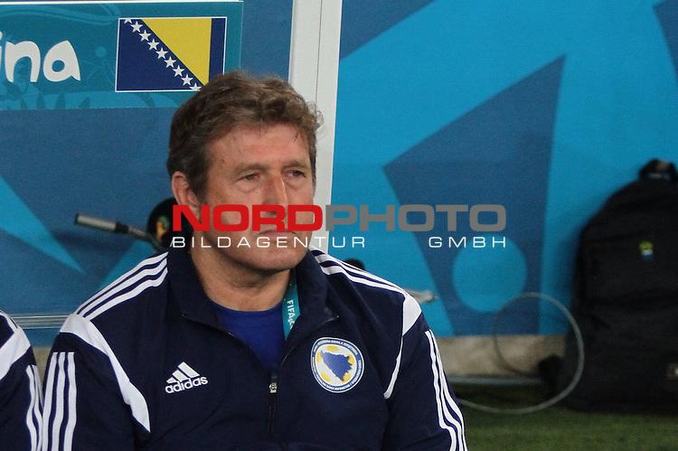 15.06.2014., Rio de Janeiro, Brazil -  FIFA World Cup, group F, Argentina - Bosnia and Herzegovina. Bosnian coach Safet Susic.<br /> <br /> Foto &copy;  nph / Halopix