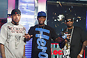 "NEW YORK - JUNE 30:  Lloyd Banks and 50 Cent and Tony Yayo  visits MTV's ""Mi TRL"" at the MTV studios in Times Square on June 30, 2008 in New York City.  (Photo by Soul Brother/FilmMagic)"