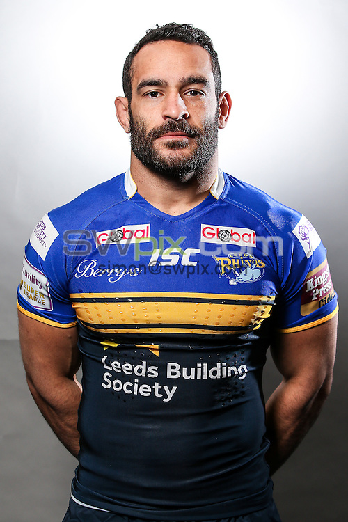 Picture by Alex Whitehead/SWpix.com - 23/01/2015 - Rugby League - First Utility Super League - Leeds Rhinos Headshots - Kirkstall Training Ground, Leeds, England - Paul Aiton