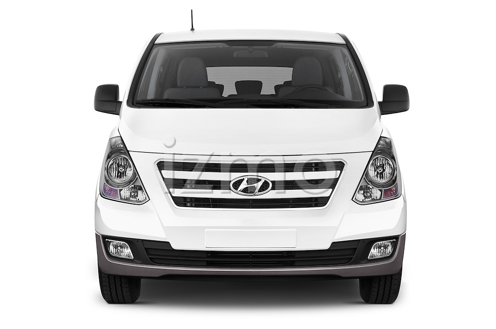 Car photography straight front view of a 2015 Hyundai H-1 People Executive 5 Door Passenger Van Front View