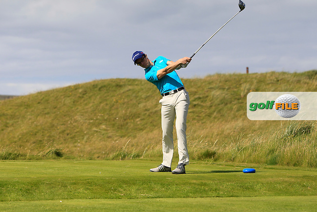 Ronan Mullane (Dromoland Castle) on the 14th tee during Round 2 of the South of Ireland Amateur Open Championship at LaHinch Golf Club on Thursday 23rd July 2015.<br /> Picture:  Golffile | Thos Caffrey