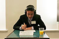 "Lukas Amsuess, native of Austria and a ""Grandmaster of Memory"", at the United States Memory Championship in New York City on March 12, 2005."