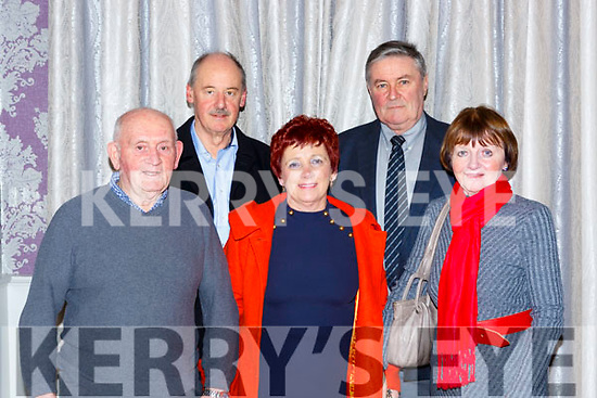 Eddie Tatler O'Sullivan, Der Brosnan, Fergus and Eleanor Moroney at the Dr Crokes GAA social in the Dromhall Hotel on Friday night