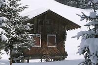 Europe/France/Rhône-Alpes/74/Haute Savoie/Env de Morzine: Chalet dans la vallée de la Manche en Hiver