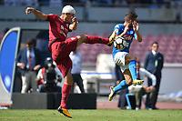 Marco Andreolli Cagliari, Dries Mertens Napoli  <br /> Napoli 01-10-2017 Stadio San Paolo Football Calcio Serie A 2017/2018 Napoli - Cagliari  <br /> Foto Andrea Staccioli / Insidefoto