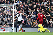 17th March 2019, Craven Cottage, London, England; EPL Premier League football, Fulham versus Liverpool; Ryan Babel of Fulham scores for 1-1 in the 74th minute