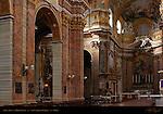 Nave Left Side High Altar Apse Niche Faux Marble Pilasters Piers San Carlo al Corso Rome