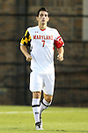12 October 2012: Maryland's Dan Metzger. The University of Maryland Terrapins defeated the Duke University Blue Devils 2-1 at Koskinen Stadium in Durham, North Carolina in a 2012 NCAA Division I Men's Soccer game.