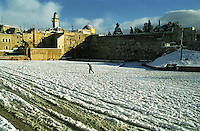 Snow in the City, Jerusalem, Israel<br />
