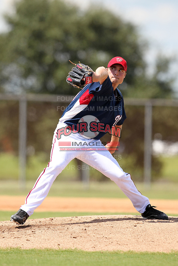 Washington Nationals pitcher Jack McGeary #22 during an Instructional League game against the national team from Italy at Carl Barger Training Complex on September 28, 2011 in Viera, Florida.  (Mike Janes/Four Seam Images)