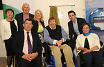 Former Kerry footballer and  Dancing with the Stars winner Aidan OÕMahony, IWA CEO Rosemary Keogh and IWA Service Coordinator Terry OÕBrien, Michael Hickey Chairman,  Breda Dwyer Vice-Chair IWA,  Jack Lawlor and Eileen O'Mahony  at the opening of the Irish Wheelchair Association new Community Centre at The Reeks Gateway, Killarney on Friday. Picture: macmonagle.com
