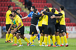 St Johnstone v Alashkert FC...09.07.15   UEFA Europa League Qualifier 2nd Leg<br /> Alaskert players celebrate at full time<br /> Picture by Graeme Hart.<br /> Copyright Perthshire Picture Agency<br /> Tel: 01738 623350  Mobile: 07990 594431
