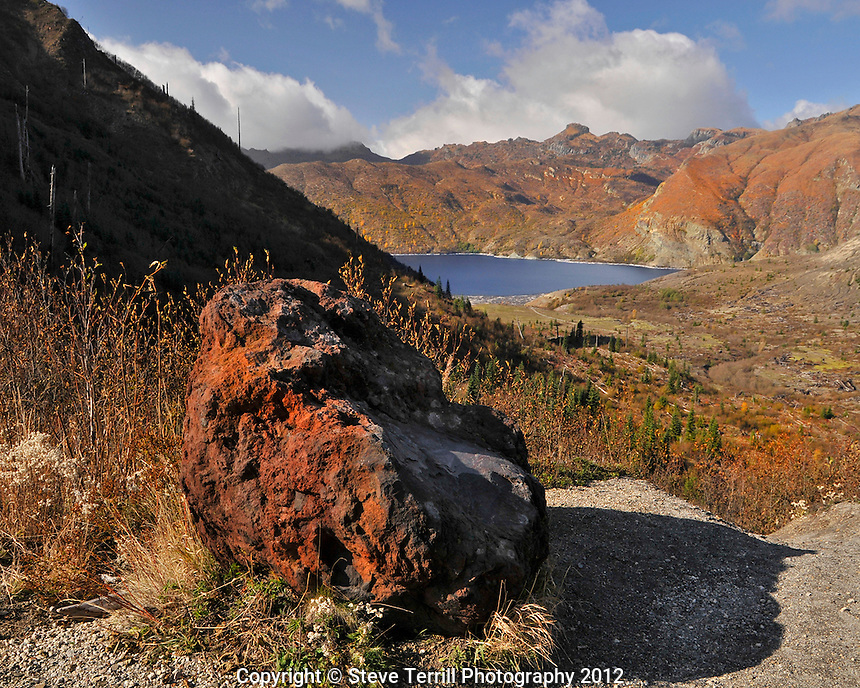 North end of Spirt Lake in Mt St Helens National Volcanic Monument, Washington