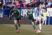 10th February 2019,  Estadio Municipal de Butarque, Leganes, Spain; La Liga football, Leganes versus Real Betis; Youssef En-Nesyri (CD Leganes) breaks along the wing
