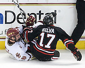 Patrick Wey (BC - 6), Steve Silva (NU - 17) - The Boston College Eagles defeated the Northeastern University Huskies 5-1 on Saturday, November 7, 2009, at Conte Forum in Chestnut Hill, Massachusetts.