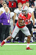 Indianapolis, IN - December 1, 2018: Ohio State Buckeyes wide receiver K.J. Hill (14) catches a pass during the Big Ten championship game between Northwestern  and Ohio State at Lucas Oil Stadium in Indianapolis, IN.   (Photo by Elliott Brown/Media Images International)
