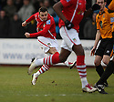Andy Mangan of Wrexham scores the opening goal during the Blue Square Bet Premier match between Cambridge United and Wrexham at the Abbey Stadium, Cambridge on 22nd January, 2011 .© Kevin Coleman 2011