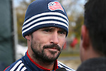 16 November 2007: Jay Heaps. The New England Revolution practiced at the RFK Stadium Auxiliary Field in Washington, DC two days before playing in MLS Cup 2007, Major League Soccer's championship game.