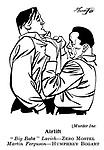 Punch cartoons by Robert Sherriffs..Film Review ; ..Murder Inc : Humphrey Bogart and Zero Mostel