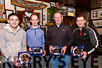 Seen at The Red Fox Inn on Saturday being honoured for their achievements in the 2018 World Handball Championships and the 2018 National Championships<br /> L-R Rory O'Connor, Jack O'Shea, John Joe Quirke & Dominick Lynch.