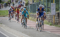 Marcel Kittel (DEU/Etixx-Quickstep) brings Tom Boonen (BEL/Etixx-Quickstep) to the front via the bike path<br /> <br /> Brussels Cycling Classic 2016