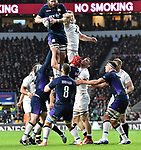16.03.2019 Guinness Six Nations International Rugby England Vs Scotland at RFU Twickenham Stadium UK<br /> Action during the match which was tied 38-38