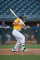 AZL Athletics Gold T.J. Schofield-Sam (37) at bat during an Arizona League game against the AZL Rangers on July 15, 2019 at Hohokam Stadium in Mesa, Arizona. The AZL Athletics Gold defeated the AZL Athletics Gold 9-8 in 11 innings. (Zachary Lucy/Four Seam Images)