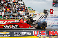 Sep 1, 2017; Clermont, IN, USA; NHRA top fuel driver Kebin Kinsley during qualifying for the US Nationals at Lucas Oil Raceway. Mandatory Credit: Mark J. Rebilas-USA TODAY Sports