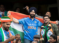 Fans of India enjoyed their day at the Oval during India vs Australia, ICC World Cup Cricket at The Oval on 9th June 2019