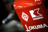 Kennametal logo displayed on the the rear wing assembly of Scott Dixon's current IndyCar.