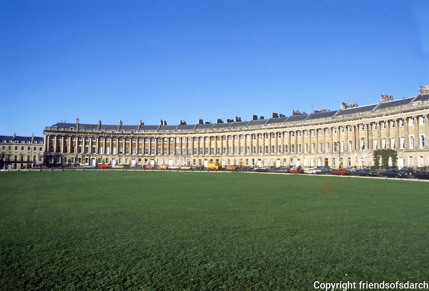 Bath: The Royal Crescent, panorama. John Wood the Younger, 1767-1774.