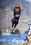 Silverado's Matthew Arnold wins the DI triple jump event with a 48 feet, 4 1/4 inch jump at the NIAA track and field finals at Carson High School in Carson City, Nev., on Saturday, May 21, 2016. Cathleen Allison/Las Vegas Review-Journal