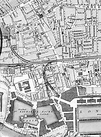 BNPS.co.uk (01202 558833)<br /> Pic: Harrods/BNPS<br /> <br /> Harrod had a grocery store and Tea shop in Cable street Whitechapel from 1834 to 1854 before moving upmarket to Belgravia.<br /> <br /> Harrods was almost shut down in the 1830s long before it became a worldwide name because of its founder's criminal dealings, a new book has revealed.<br /> <br /> In The Jewel of Knightsbridge, The Origins of the Harrods Empire, author Robin Harrod discovered his great great grandfather, Harrods founder Charles Henry Harrod, was on the brink of being deported to Australia for handling stolen goods in 1836.<br /> <br /> He was only saved from his sentence of seven years transportation (deportation) by a petition on his behalf which vowed he would turn his back on crime.<br /> <br /> The Jewel of Knightsbridge: The Origins of The Harrods Empire by Robin Harrod, published by The History Press, costs &pound;20 and will be released on February 13.