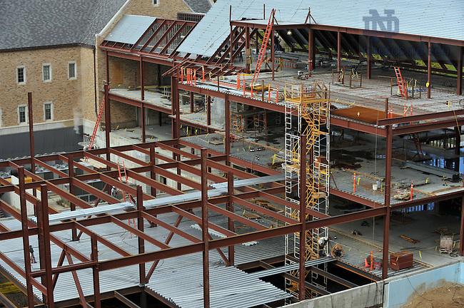 Construction on Harper Hall, September 2009