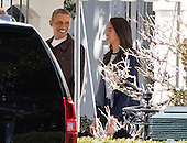 United States President Barack Obama and daughter Malia depart the White House for a trip to the Thomas Jefferson Building of the Library of Congress to view the original manuscript of President Abraham Lincoln's Second Inaugural Address, which the Library of Congress put on display to commemorate the 150th anniversary of its delivery.<br /> Credit: Ron Sachs / Pool via CNP