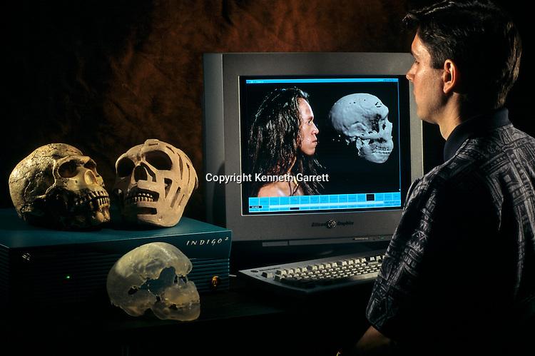 Grafting images of living humans onto Neandertal skulls , Paul Neumann, Biomedical Visualization Laboratory,  Unversity of Zurich