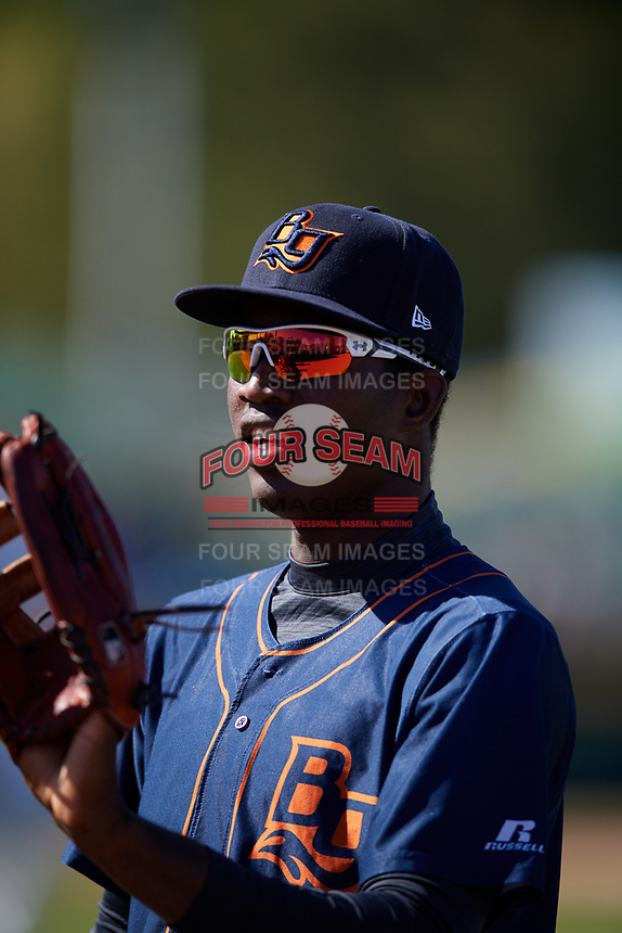 Bowling Green Hot Rods left fielder Jesus Sanchez (7) during a game against the Beloit Snappers on May 7, 2017 at Pohlman Field in Beloit, Wisconsin.  Bowling Green defeated Beloit 6-2.  (Mike Janes/Four Seam Images)