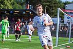 V&auml;llingby 2013-07-06 Fotboll Allsvenskan , IF Brommapojkarna - Kalmar FF :  <br /> Kalmar 34 M&aring;ns S&ouml;derqvist signalerar f&ouml;r m&aring;l efter sitt 1-0 m&aring;l<br /> (Foto: Kenta J&ouml;nsson) Nyckelord:  jubel gl&auml;dje lycka glad happy portr&auml;tt portrait