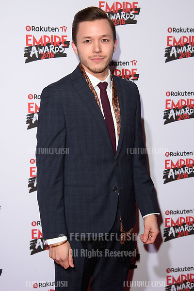 Tommy Bastow arriving for the Empire Awards 2018 at the Roundhouse, Camden, London, UK. <br /> 18 March  2018<br /> Picture: Steve Vas/Featureflash/SilverHub 0208 004 5359 sales@silverhubmedia.com