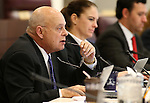 Nevada Assemblyman Jim Wheeler, R-Minden, works in committee at the Legislative Building in Carson City, Nev., on Wednesday, April 22, 2015. <br /> Photo by Cathleen Allison