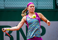 Paris, France, 01 June, 2018, Tennis, French Open, Roland Garros, Womans Doubles : Johanna Larsson (SWE)<br /> Photo: Henk Koster/tennisimages.com