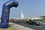 Km0 the start of Stage 4 The Municipality Stage of the Dubai Tour 2018 the Dubai Tour&rsquo;s 5th edition, running 172km from Skydive Dubai to Hatta Dam, Dubai, United Arab Emirates. 9th February 2018.<br /> Picture: LaPresse/Fabio Ferrari | Cyclefile<br /> <br /> <br /> All photos usage must carry mandatory copyright credit (&copy; Cyclefile | LaPresse/Fabio Ferrari)
