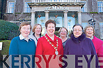 Killarney Toastmasters who will celebrate their 10th anniversary this year are calling for more men and women to come along and join in the fun, challenging and entertaining twice-monthly meetings. .Front L-R Eileen Joy, president Helene Brunicardi and former area governor, Mary O'Donoghue.Back L-R Eileen Griffin (past president), Mary O'Reilly and Margaret Kidney (past president) .