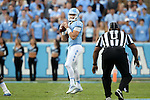 19 November 2016: UNC quarterback Mitch Trubisky. The University of North Carolina Tar Heels hosted the The Citadel, The Military College of South Carolina Bulldogs at Kenan Memorial Stadium in Chapel Hill, North Carolina in a 2016 NCAA Division I College Football game. UNC won the game 41-7.