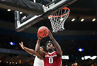 NWA Democrat-Gazette/CHARLIE KAIJO Arkansas Razorbacks guard Jaylen Barford (0) reaches for a layup during the Southeastern Conference Men's Basketball Tournament semifinals, Saturday, March 10, 2018 at Scottrade Center in St. Louis, Mo. The Tennessee Volunteers knocked off the Arkansas Razorbacks 84-66