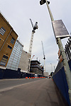 A general view outside the old and the new building work in progress at the White Hart Lane Stadium. English Premier League match at the White Hart Lane Stadium, London. Picture date: April 30th, 2017.Pic credit should read: Robin Parker/Sportimage