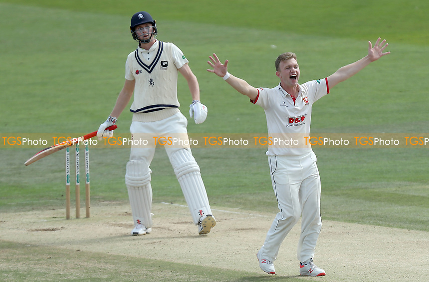 Sam Cook of Essex appeals for the wicket of Zak Crawley during Kent CCC vs Essex CCC, Specsavers County Championship Division 1 Cricket at the St Lawrence Ground on 20th August 2019